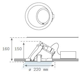 DOMO 220 G2 ASYMMETRICS dimension